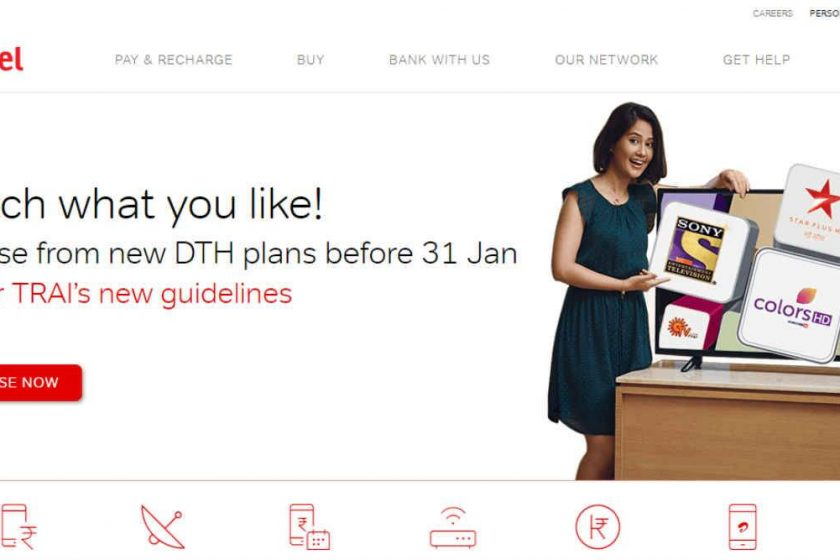 A quick look at Airtel Digital TV DTH recharge plans
